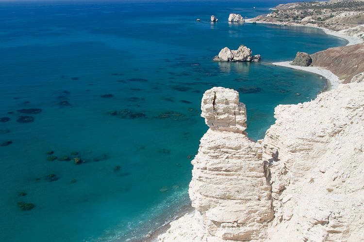 fotos gps zypern felsen der aphrodite petra tou romiou. Black Bedroom Furniture Sets. Home Design Ideas